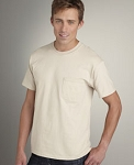 6 oz. Pocket T-Shirt 100% Ultra Cotton