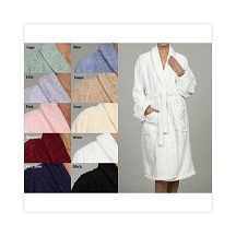 Embroidered Luxury Superior Egyptian Cotton Unisex Terry Bath Robe