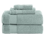 Embroidered Canopy 4 Piece Textured Towel Set