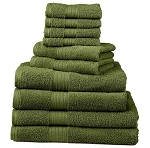 Embroidered 10-Piece Deluxe Towel Set